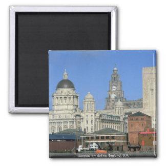 Liverpool city skyline England U K Magnets