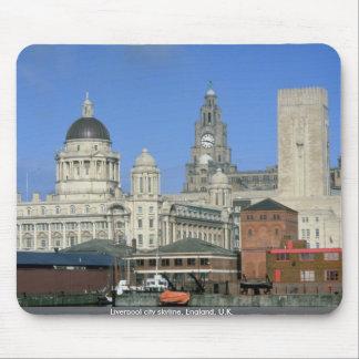 Liverpool city skyline England U K Mousepad