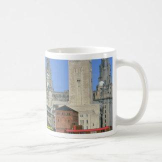 Liverpool city skyline, England, U.K. Mug