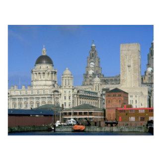 Liverpool city skyline England U K Post Cards