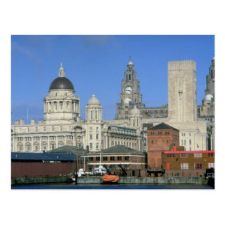 Liverpool city skyline, England, U.K. Postcard