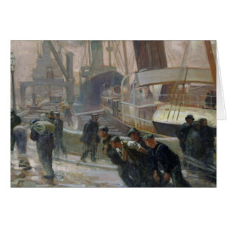Liverpool Dockers at Dawn, 1903 Card