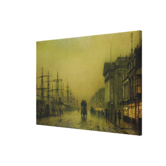 Liverpool Docks Customs House and Salthouse Docks, Canvas Print