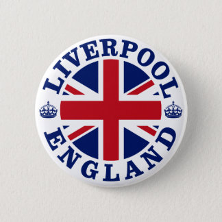 Liverpool England British Flag Roundel 6 Cm Round Badge