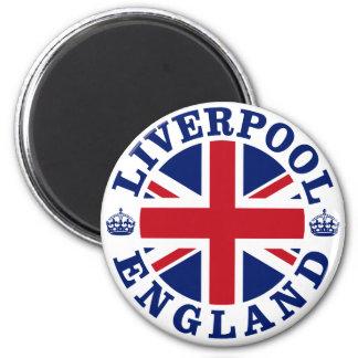 Liverpool England British Flag Roundel 6 Cm Round Magnet