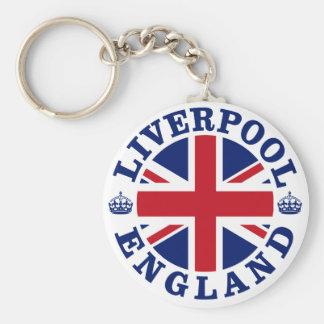 Liverpool England British Flag Roundel Basic Round Button Key Ring