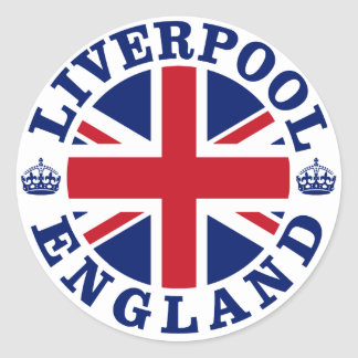 Liverpool England British Flag Roundel Classic Round Sticker