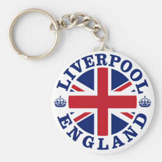Liverpool England British Flag Roundel Key Ring
