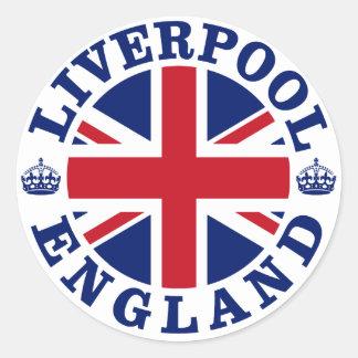 Liverpool England British Flag Roundel Round Sticker
