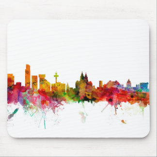 Liverpool England Skyline Mouse Mat