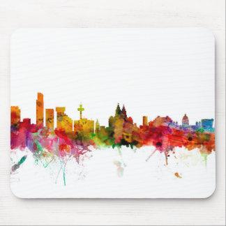 Liverpool England Skyline Mouse Pad