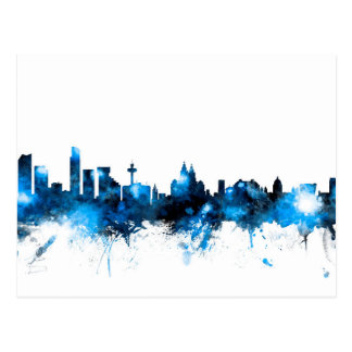 Liverpool England Skyline Postcard