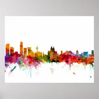 Liverpool England Skyline Poster