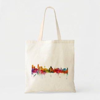 Liverpool England Skyline Tote Bags