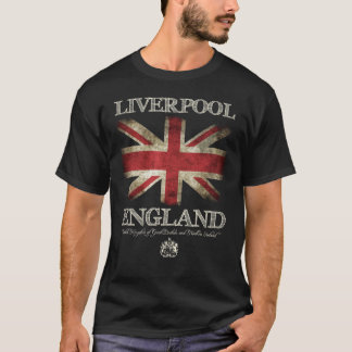 Liverpool England UK Flag T-Shirt