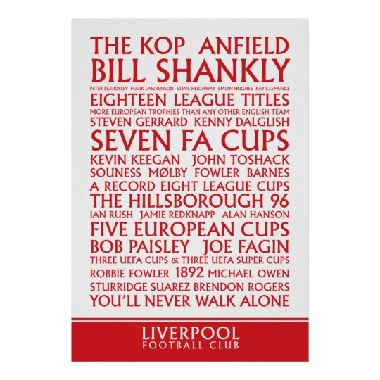 Liverpool FC Successes print