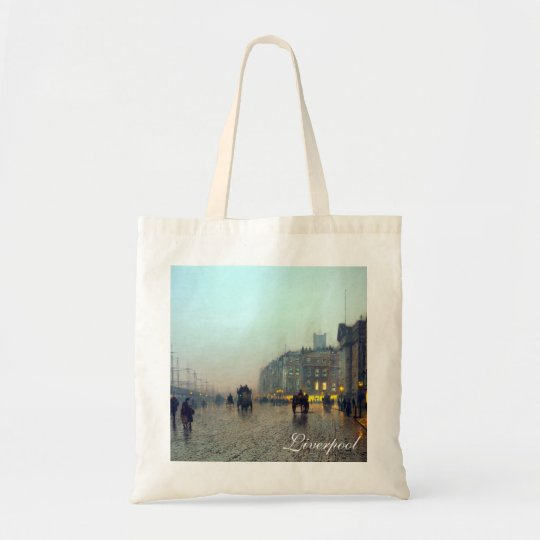 Liverpool from Wapping vintage painting Tote Bag