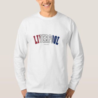 Liverpool in United Kingdom national flag colors Tee Shirts