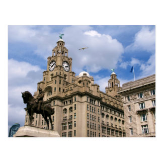 Liverpool - Liver Building Postcard