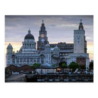Liverpool Liverbuildings Postcard