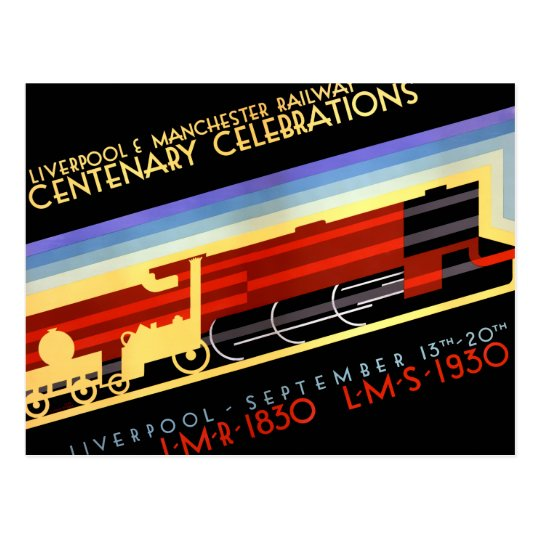 Liverpool Manchester Railway Vintage Poster Postcard