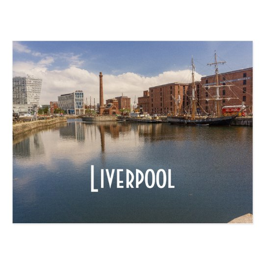 Liverpool Salthouse Dock Merseyside Travel Photo Postcard