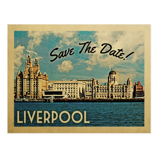 Liverpool Save The Date UK England Postcard