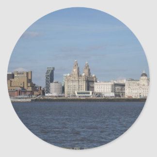 Liverpool Skyline Classic Round Sticker