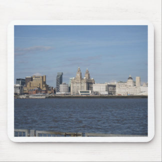 Liverpool Skyline from the Mersey Mouse Mat