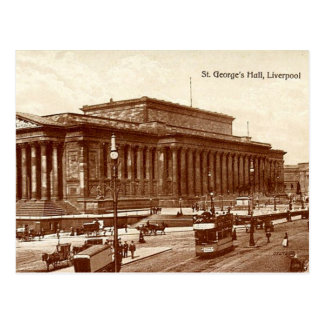 Liverpool St George s Hall Post Card
