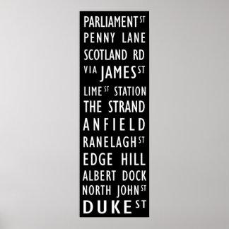 Liverpool Vintage Transit Scroll Poster