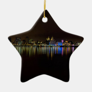 Liverpool Waterfront Christmas Ornament