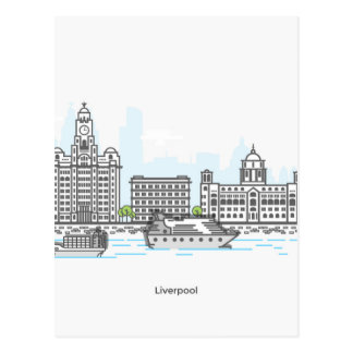 Liverpool Waterfront Postcard