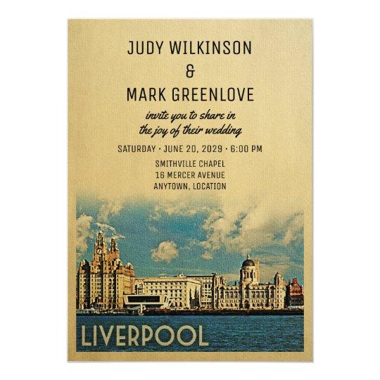Liverpool Wedding Invitation UK England