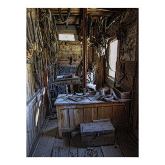Livery Stable Work Area - Virginia City Ghost Town Print