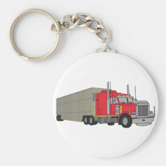Livestock Truck Basic Round Button Key Ring