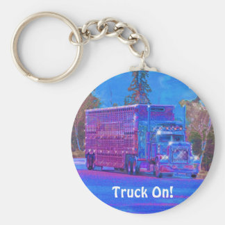 Livestock Truck Drivers Truckin' Key-Chains Basic Round Button Key Ring