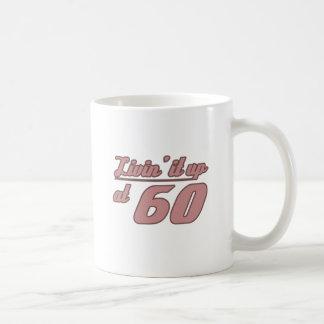 Livin It Up At 60 Basic White Mug
