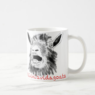 Livin La Vida Goata Funny Animal Art Slogan Design Coffee Mug