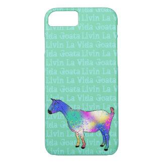 Livin La Vida Goata Funny Blue Goat Animal Art iPhone 8/7 Case