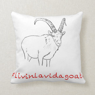 Livin La Vida Goata Funny Goat Art slogan Design Cushion