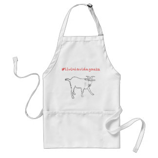 Livin La Vida Goata Funny Goat Art Slogan Design Standard Apron