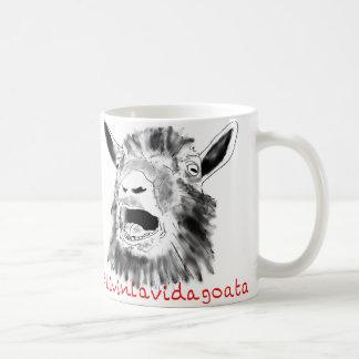Livin la vida goata funny goat design basic white mug