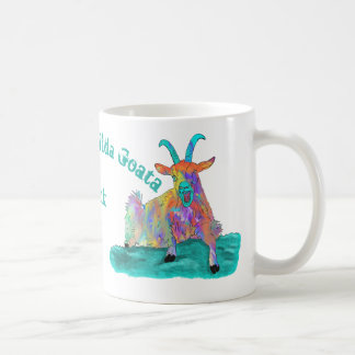 Livin La Vida Goata Funny Screaming Goat Design Coffee Mug