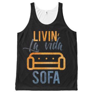 Livin' la vida sofa All-Over print tank top
