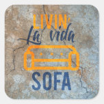 Livin' la vida sofa square sticker