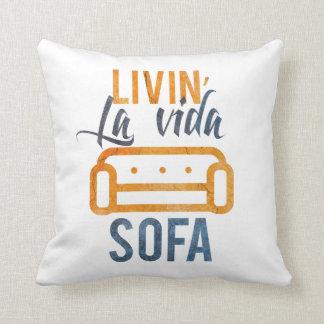Livin' la vida sofa throw cushion