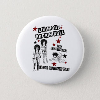 LIVIN' OUT ROCK'N'ROLL FILM PREMIERE MERCHANDISE 6 CM ROUND BADGE