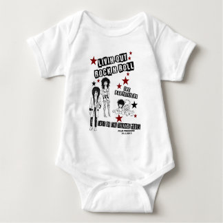 LIVIN' OUT ROCK'N'ROLL FILM PREMIERE MERCHANDISE BABY BODYSUIT