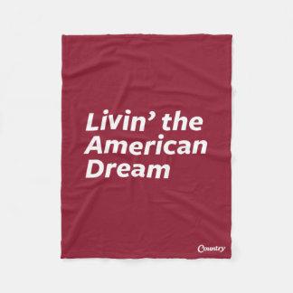 Livin' the American Dream Fleece Blanket